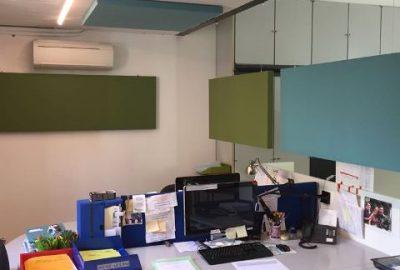 Pannelli fonoassorbenti a soffitto e parete