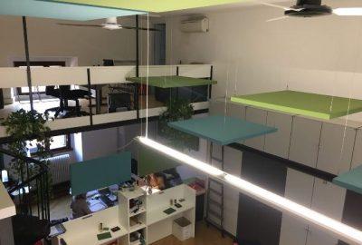 Assorbimento acustico in ufficio open space
