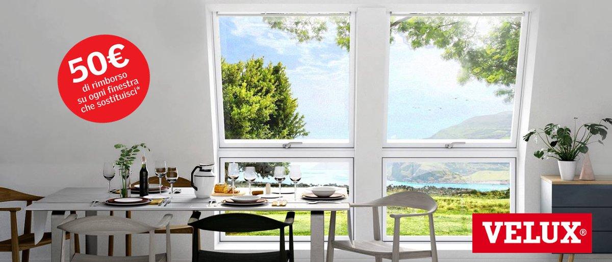VELUX - Sostituzione finestre da tetto e lucernari con promozione rimborso 50€