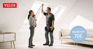 Velux - Promozione per la sostituzione di vecchie finestre per tetto a falda