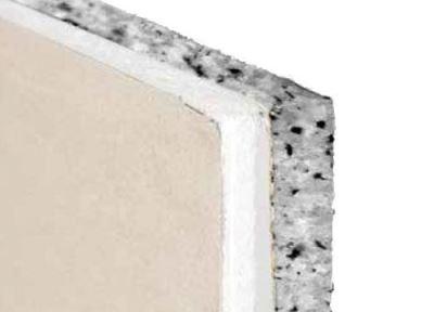 Lastra cartongesso accoppiata con poliuretano per isolamento acustico AEMIX WALL