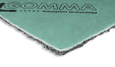 Materassino in truccioli di EPDM e fibra di poliestere per isolamento acustico anticalpestio upgrei