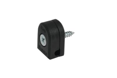 Morsetti di fissaggio in PVC nero per recinzione modulare Barent