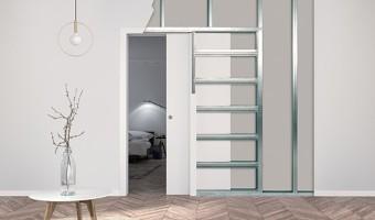 Controtelaio ECLISSE Unico per porta scorrevole per cartongesso