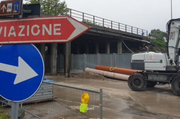 Lavori di demolizione e ricostruzione ponte Tangenziale Est di Padova su via Vigonovese