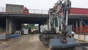 Lavori di demolizione e ricostruzione ponte Tangenziale di Padova Corso Argentina su via Vigonovese