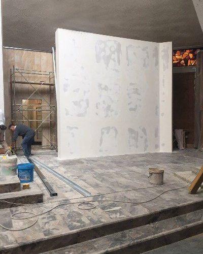 Costruzione di una parete in cartongesso a bandiera