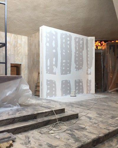 Stuccatura di una parete in cartongesso