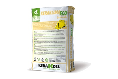 Adesivo e rasante ad alta resistenza Keraklima Eco Granello bianco 25 kg per sistemi a cappotto termico