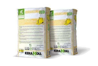 Adesivo e rasante ad alta resistenza effetto civile fino Keraklima Eco bianco 25 kg per sistemi a cappotto termico