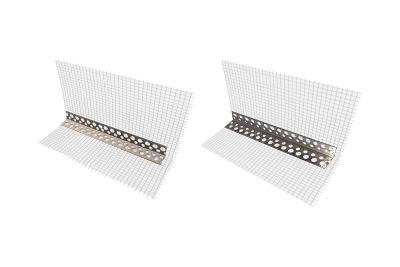 Angolare PVC 80x120x2500 mm con rete in fibra di vetro per isolamento termico a cappotto