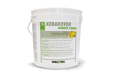 Intonachino acrilico Kerakover Acrilex Finish varie granulometrie bianco o colorato