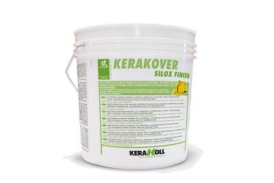 Intonachino silossanico traspirante Kerakover Silox Finish varie granulometrie bianco o colorato
