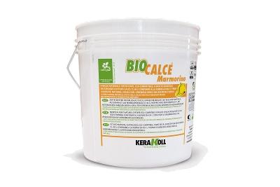 Stucco minerale a calce traspirante Biocalce Marmorino bianco o colorato